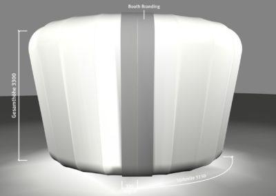 Konstruktion Grafik Booth / Messestand, Beschriftung