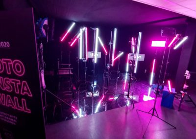 Foto Insta wall mit spiegeleffekt Tanzboden, Prolyte Rohre