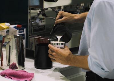 Kaffeebar am Messestand