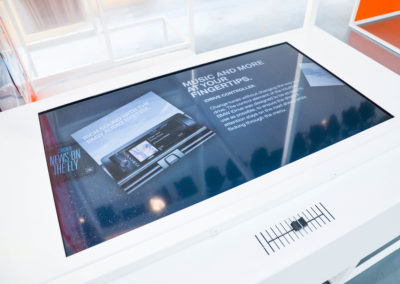 Monitor in Counter integriert