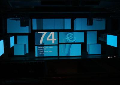 Kubus als Print Frame Alurahmen beleuchtet