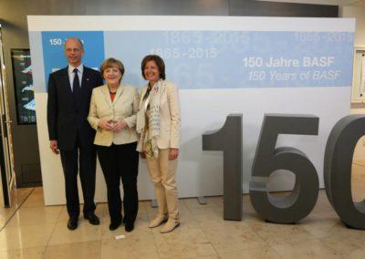 Angela Merker auf dem BASF 150 Jahre Festakt