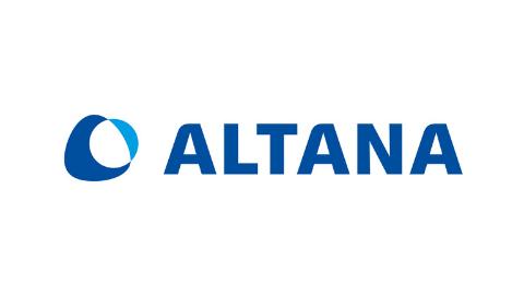 blaues Logo ALTANA AG auf weißem Hintergrund