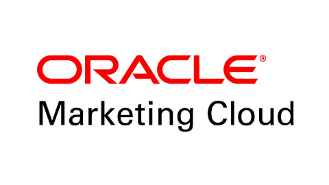 farbiges Logo ORACLE Marketing Cloud auf weißem Hintergrund
