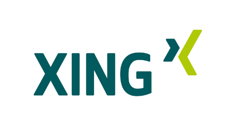 grünes Logo XING auf weißem Hintergrund