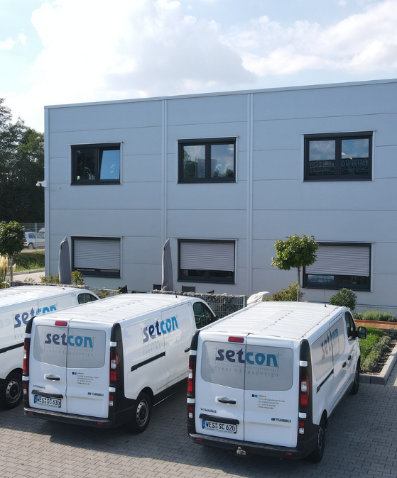setcon Event & Expodesign GmbH Sicht aufs Gebäude