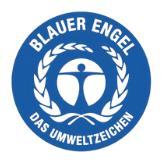 farbiges Logo Blauer Engel Umweltzeichen