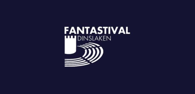 weißes Logo Fantastival Dinslaken auf dunkelblauem Hintergrund