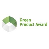 Siegel der Auszeichnung Green Product Award für weltweit nachhaltige, innovative Produkte & Services