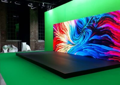 Green Screen Setup mit Bühnenpodest