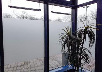 Milchglas Fensterbeklebung