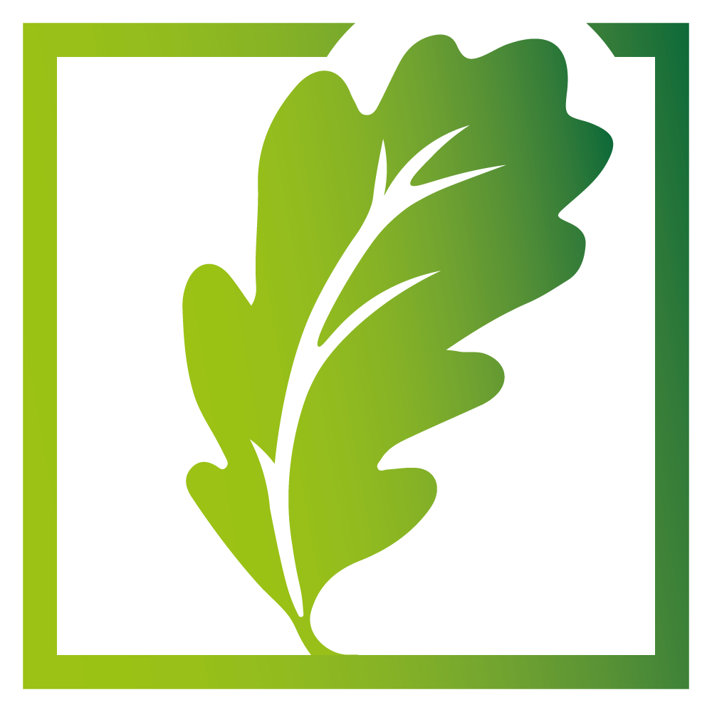 grünes Corporate Social Responsibility Logo mit Blättern