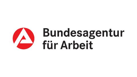 farbiges Logo Bundesagentur für Arbeit auf weißem Hintergrund
