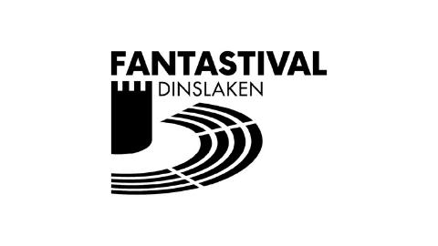 schwarzes Logo Fantastival Dinslaken auf weißem Hintergrund