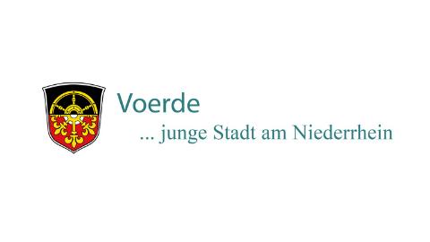 farbiges Logo Stadt Voerde auf weißem Hintergrund