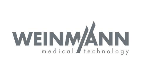 hellgraues Weinmann medical technology Logo auf weißem Hintergrund