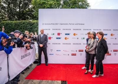 57. Grimme-Preis 2021 Roter Teppich und Fotowall mit Sponsoren, Partnern und Förderern